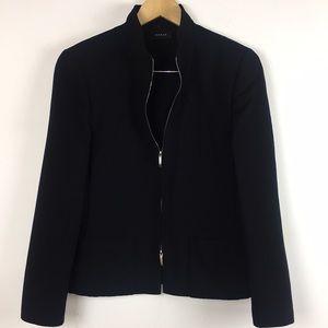 Akris Black Full Zipper Blazer
